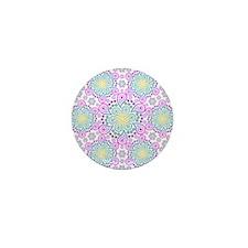 Paisley Flower Fractal Mini Button