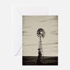 Iowa Farm Windmill Greeting Card