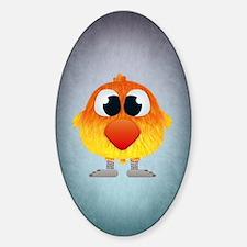 Unique Cartoons lovebirds Sticker (Oval)