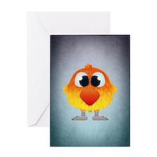 Cute Cartoons lovebirds Greeting Card