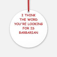 barbarian Ornament (Round)