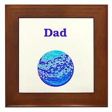 Dad Golf not Rolf Framed Tile