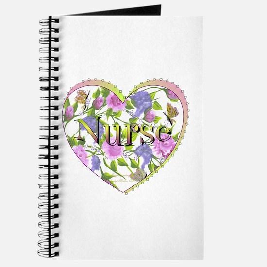 Nurse's Floral Heart Journal