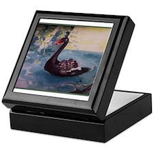 Black Swan Watercolor Keepsake Box