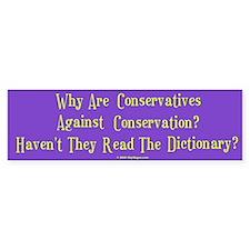 Conservative/Conservation Bumper Bumper Sticker