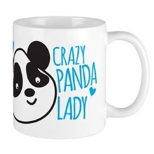 Crazy Panda Lady Mugs