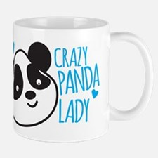 Crazy Panda Lady Mugs