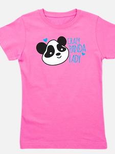 Crazy Panda Lady Girl's Tee