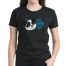 Crazy Panda Lady T-Shirt