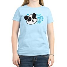 Crazy Panda Lady T-Shirt