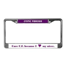 Cure CF because I heart my niece License Frame