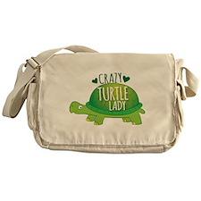 Crazy Turtle lady Messenger Bag