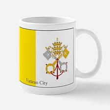 Vatican City Papal Flag Mugs