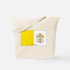Vatican City Papal Flag Tote Bag