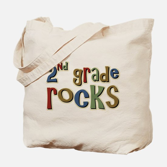 2nd Grade Rocks Second School Tote Bag