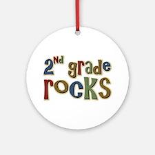 2nd Grade Rocks Second School Ornament (Round)