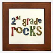 2nd Grade Rocks Second School Framed Tile