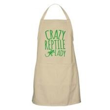 Crazy Reptile lady with gecko lizard Apron