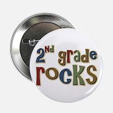 "2nd Grade Rocks Second School 2.25"" Button (100 pa"
