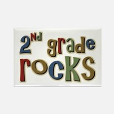 2nd Grade Rocks Second School Rectangle Magnet (10