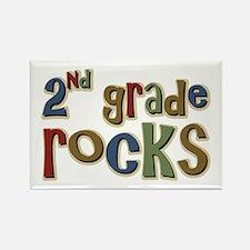 2nd Grade Rocks Second School Rectangle Magnet
