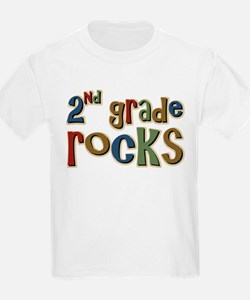 2nd Grade Rocks Second School T-Shirt