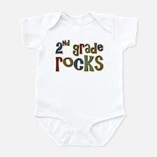 2nd Grade Rocks Second School Infant Bodysuit
