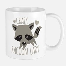 Crazy Racoon Lady Mugs
