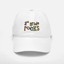 2nd Grade Rocks Second School Baseball Baseball Cap