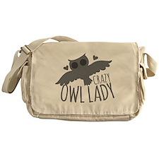 Crazy Owl Lady Messenger Bag
