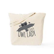 Crazy Owl Lady Tote Bag