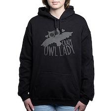Crazy Owl Lady Women's Hooded Sweatshirt