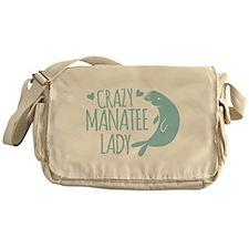 Crazy Manatee Lady Messenger Bag
