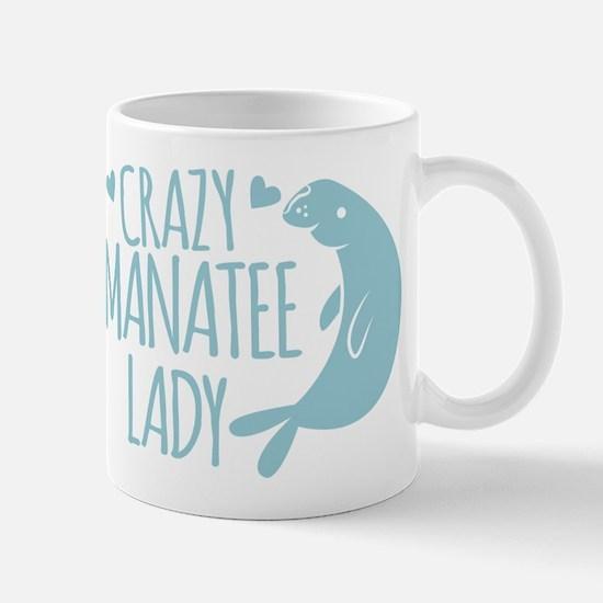 Crazy Manatee Lady Mugs