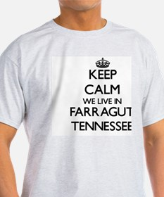 Keep calm we live in Farragut Tennessee T-Shirt