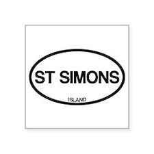 """Cute Simon Square Sticker 3"""" x 3"""""""