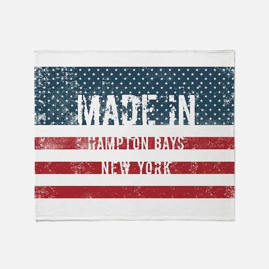 Made in Hampton Bays, New York Throw Blanket