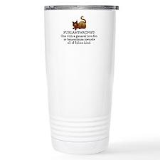Furlanthropist - cat lover- brown cat Travel Mug