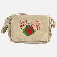 Crazy Ladybug Lady Messenger Bag
