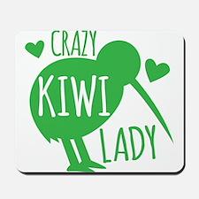 Crazy Kiwi Lady Mousepad