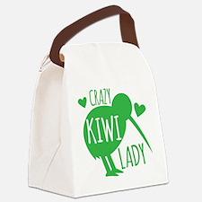 Crazy Kiwi Lady Canvas Lunch Bag