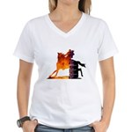 Turn 'n Burn Women's V-Neck T-Shirt