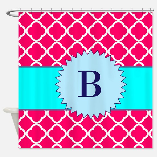 Hot Pink And Aqua Shower Curtain