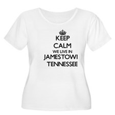 Keep calm we live in Jamestown T Plus Size T-Shirt