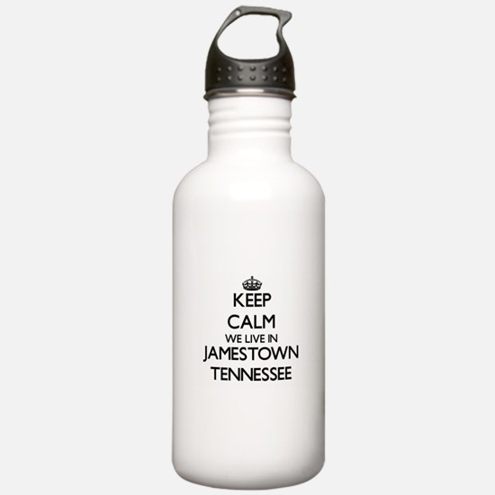 Keep calm we live in J Water Bottle