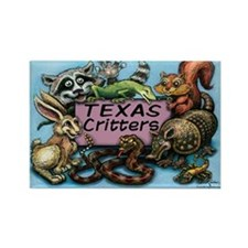 Texas critters Rectangle Magnet