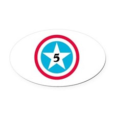Super Star Numbers Oval Car Magnet
