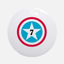 Super Star Numbers Round Ornament