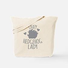 Crazy Hedgehog Lady Tote Bag