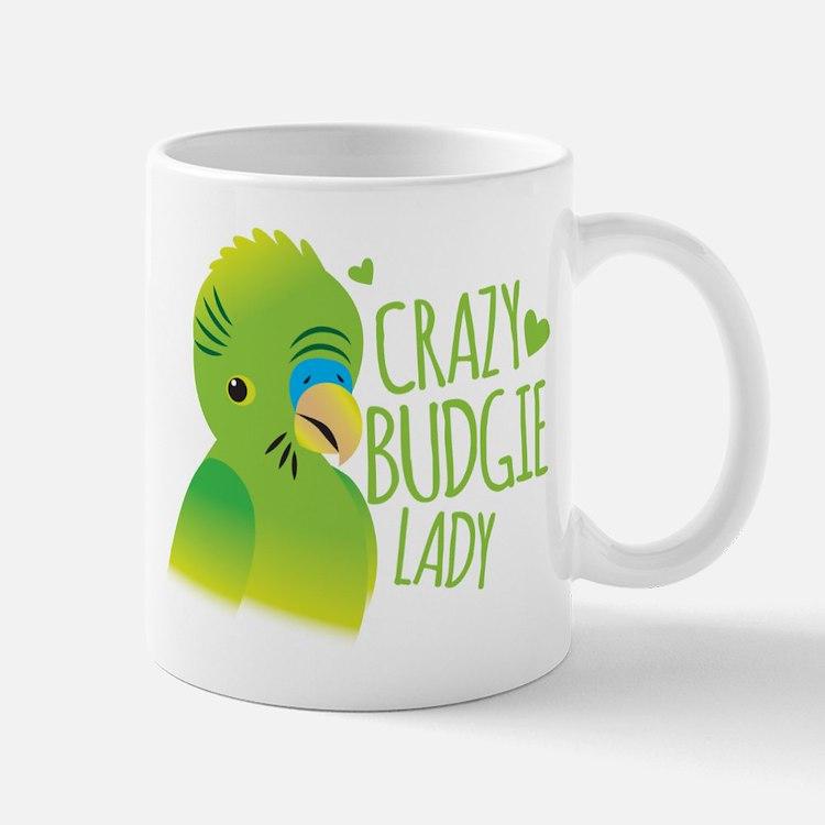 Crazy Budgie Lady Mugs